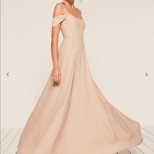Reformation Poppy Dress (Bridesmaid) - Champagne